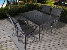Pebble Lane Living is a premiere online patio furniture and outdoor living company selling direct from the manufacturer to provide high quality products at amazing prices. Patio Bar Table, Outdoor Patio Bar Sets, Patio Dining, Dining Set, Outdoor Tables, Outdoor Living, Outdoor Decor, Bar Stool Seats, Grey Bar