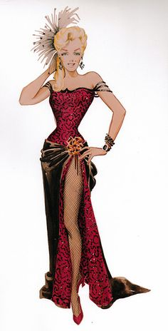 "Travilla Costume Design for Marilyn Monroe, ""River of no Return"" by thefoxling, via Flickr"
