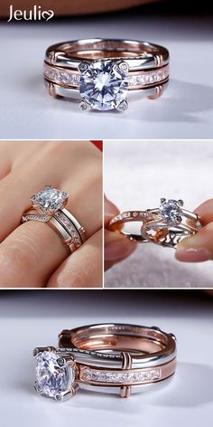 This Exquisite Bridal Set Is A Beautiful Way To Express Your Love. Take A Look At These Stunning Photos Of Beautiful Rings. Determing the best pieces of jewelry for your special someone is kind of challenging although when you know where to search and a Jewelry Stores Near Me, Mode Blog, Custom Wedding Rings, Antique Engagement Rings, Schmuck Design, Beautiful Rings, Ring Designs, Jewelry Rings, Wire Rings