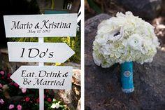 Wedding Sign Bridal Bouquet