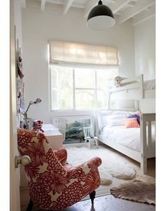 white, eclectic, kids room