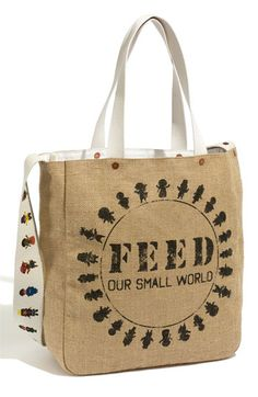 "Love this Disney ""It's a Small World"" by FEED ""Feed Our Small World"" tote. $10 from the sale of this bag at Nordstroms will go to Unicef's nutrition programs."