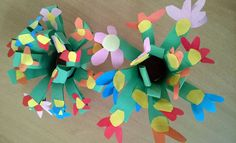 If you want to make something easy but beautiful than right choice is this paper bouquet of flowers. Gift for Mother's Day #flowers #paper #gift #craft #mothersday #spring #kids #handmade