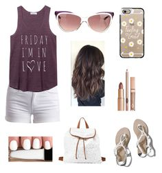 """""""Friday I'm In Love"""" by taylor-loves-clothes ❤ liked on Polyvore featuring Pieces, Abercrombie & Fitch, Casetify, Yves Saint Laurent and Charlotte Russe"""