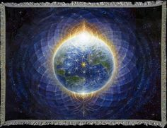 Modern Esoteric Art And Symbolism - Autumn Skye Morrison - Earth Flower Of Life Arte Pink Floyd, Art Visionnaire, L Ascension, Nova Era, Alex Grey, Visionary Art, Flower Of Life, Illuminati, Sacred Geometry
