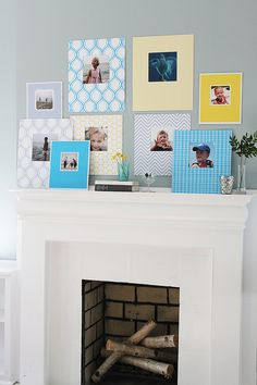 Printed mats - a good DIY idea to spice up your photo frames!