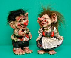 Image detail for -resin trolls in norwegian costumes our products dolls figurines trolls