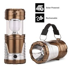 Camping LanternGright Camping Lantern FlashlightsCollapsible Solar Lanterns Rechargeable LED Lantern Camp Lights Table Lamp for Outdoor Fishing Blackout Golden ** Click image for more details.