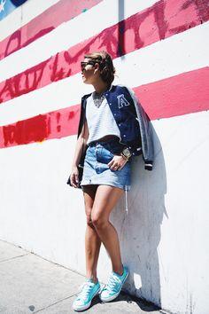 San_Franciso-Levis_Skirt-Vintage-Baseball_Jacket-Varsity-Bershka-Stripes-Converse-9