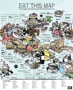 An Irreverent (and Delicious) Map of the Online Food World - Say Daily