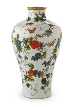 Lot 771 A CHINESE POLYCHROME MEIPING VASE, 20TH CENTURY R 30 000 - 50 000