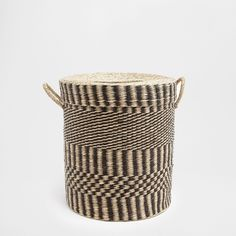 Two-tone clothes basket with lid - BASKETS - BATHROOM | Zara Home Greece