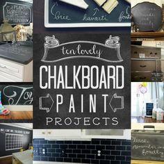 Ten Lovely Chalkboard Paint Ideas | remodelaholic.com