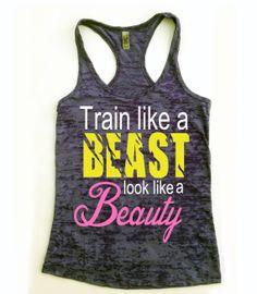 Fitness Tank Top / Look Like A Beauty // Train by Built2InspireU, $22.00
