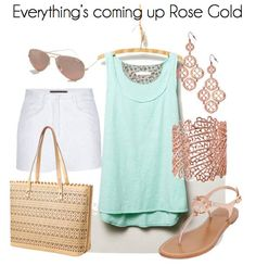 Sea foam and blush summer outfit! | SHOP: www.stelladot.com/ellenwilliams