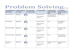 12 Best Problem Solving Worksheets Images Behavior Learning