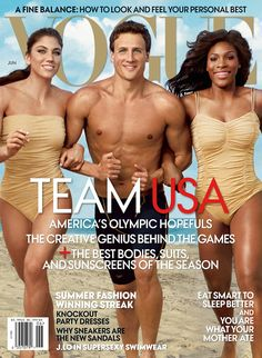 FLASHBACK: Hope Solo, Ryan Lochte and Serena Williams on Vogue's June 2012 cover.