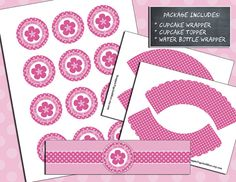 Instant Download  Printable  Pink Polka Dot by ScrappinTagsAndMore, $7.50