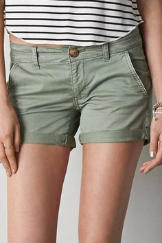 AEO Twill Midi Short by AEO | Find your perfect length. Shop the AEO Twill Midi Short and check out more at AE.com.