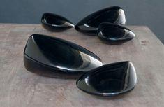 Alexander Lamont black lacquer Steamer Boxes