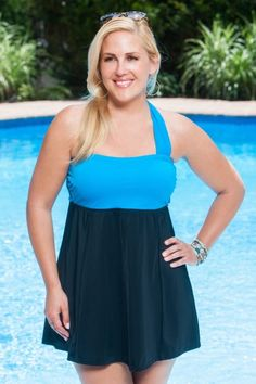 Full control - Full fashion - Full comfort!!  The wrap bandeau swimdress has it all!