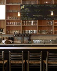 Mill Valley Beerworks, nice clean backbar shelves with chalk board menu