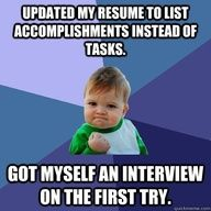 A major boost for your resume - and a must!