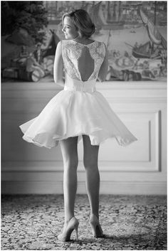 short lace wedding dress,love