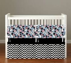 Minnie Mouse theme inspired Toss Crib Bedding