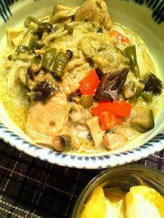 タイ料理とベトナム料理を合わせてみました。ご飯でたべるより辛さが強かったです。 - 5件のもぐもぐ - 昨日のグリーンカレーをフォーに by Hiroty