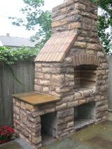 25 Best DIY Backyard Brick Barbecue Ideas – HomeGardenMagz - Everything About The Home Trends Brick Built Bbq, Brick Grill, Brick Oven Outdoor, Diy Outdoor Fireplace, Outdoor Stove, Backyard Fireplace, Fireplace Ideas, Fireplace Design, Bbq World