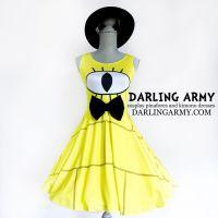 Bill Cipher Gravity Falls Printed Cosplay Dress by DarlingArmy