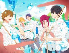 Makoto, Nagisa, Rei, Rin and Haruka