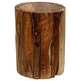 Embrace a natural, rustic aesthetic with the versatile and environmentally-friendly design of the Tropica Driftwood Drum Stool from SLH. Dining Room Table Chairs, Teak Table, Dining Furniture, Luxury Furniture, Furniture Design, Driftwood Furniture, Rustic Furniture, Buy Coffee Table, Side Coffee Table