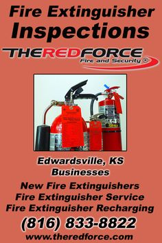 Fire Extinguisher Inspections Edwardsville, KS (816) 833-8822 Check out The Red Force Fire and Security.. The Complete Source for Fire Protection in Kansas. Call us Today!