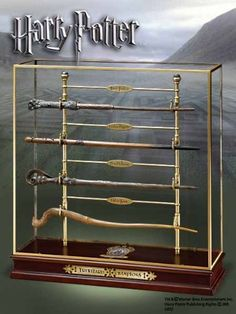 Harry Potter – Triwizard Champions Wand Set - Includes four wands, display stand and cover. With the wands of Harry Potter, Cedric Diggory, Fleur Delacour and Victor Krum. - http://geekarmory.com/triwizard-champions-wand-set/