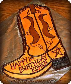 1st Birthday Cowboy Boot Cake