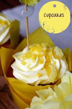 Zitronen Cupcakes mit Limetten-Schoki-Topping