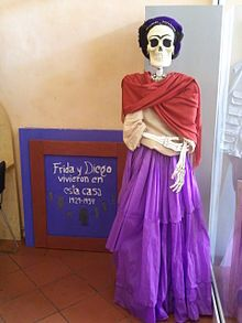 Image of Frida for Day of the Dead at the Museo Frida Kahlo in Coyoacán, México