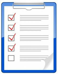 High School Transcript checklist