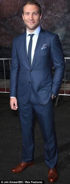 talk about suited and booted! this suit is so fresh. And The Man in the suit, Mr. Jai Courtney is SUPER FINE!!!