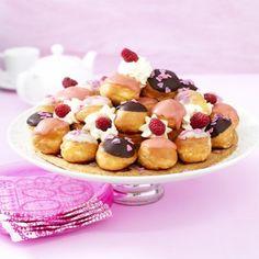 Slagroom soesjes recept | Dr. Oetker High Tea, School Lunch, Fruit Salad, Sweet 16, Tea Party, Cream, Baking, Breakfast, Desserts