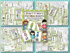 Short 'o' Word Families Galore 4 weeks of word family activities for short o.  Other vowel sets also available.