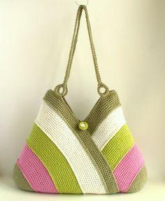 Bolso colorido verano bolso de la playa bolso bolso de por RUMENA