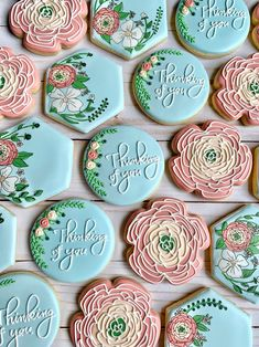 Thank You Cookies, Mother's Day Cookies, Iced Cookies, Cupcake Cookies, Cupcakes, Happy Birthday Cookie, Birthday Cookies, 21st Birthday, Birthday Ideas