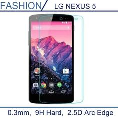 0.3mm Premium Tempered Glass for LG NEXUS 5 nexus5 9H Hard 2.5D Arc Edge Transparent Screen Protector with Clean Tools