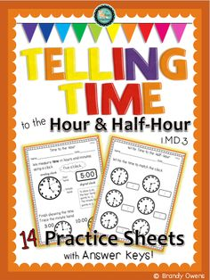 Telling Time Unit for Grade 2 (Ontario Curriculum) | Math ...