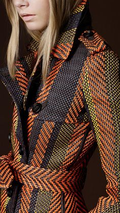 burberry prorsum: woven leather trench....I can't begin to express how much I love this jacket.
