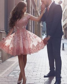 This cute lace cocktail dress was made in a pretty pink color. You can have couture looking formal dresses like this made in a price range you can afford. We are dressmakers who produce custom #eveningdresses & replicas of couture fashion designs for clients who can not afford the original.  Get more info on replicas, pricing and how our process works when you email us from our website at wwww.DariusCordell.com