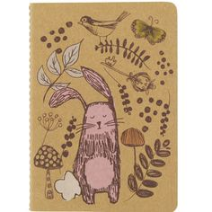 woodland illustrated bunny notebook